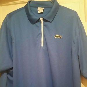 Lacoste Sport Men's Blue Short Sleeve Top Sz S
